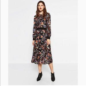 Zara embroidery dress. NWT
